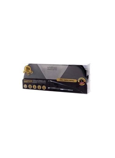 Ventoso Ventoso Özel Çantalı Değişebilir Plakalı Titanyum Kaplı Saç Tost Makinesi Ve Düzleştirici Siyah